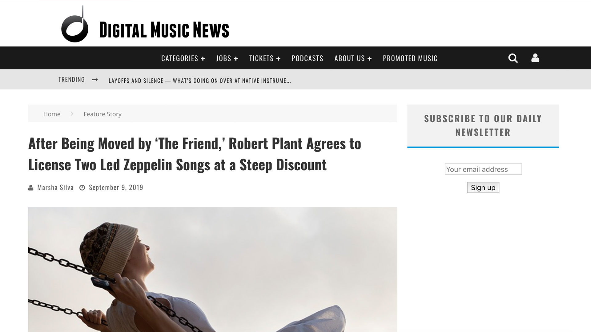 Fairness Rocks News After Being Moved by 'The Friend,' Robert Plant Agrees to License Two Led Zeppelin Songs at a Steep Discount