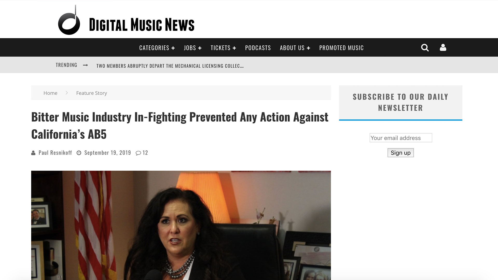 Fairness Rocks News Bitter Music Industry In-Fighting Prevented Any Action Against California's AB5