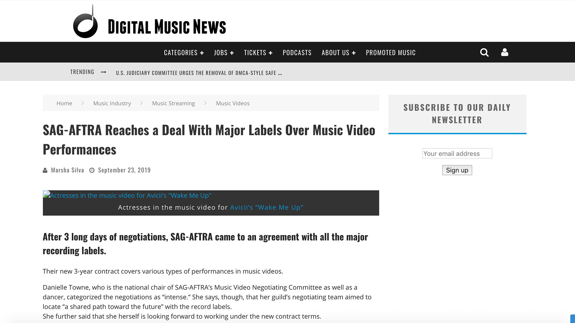 Fairness Rocks News SAG-AFTRA Reaches a Deal With Major Labels Over Music Video Performances