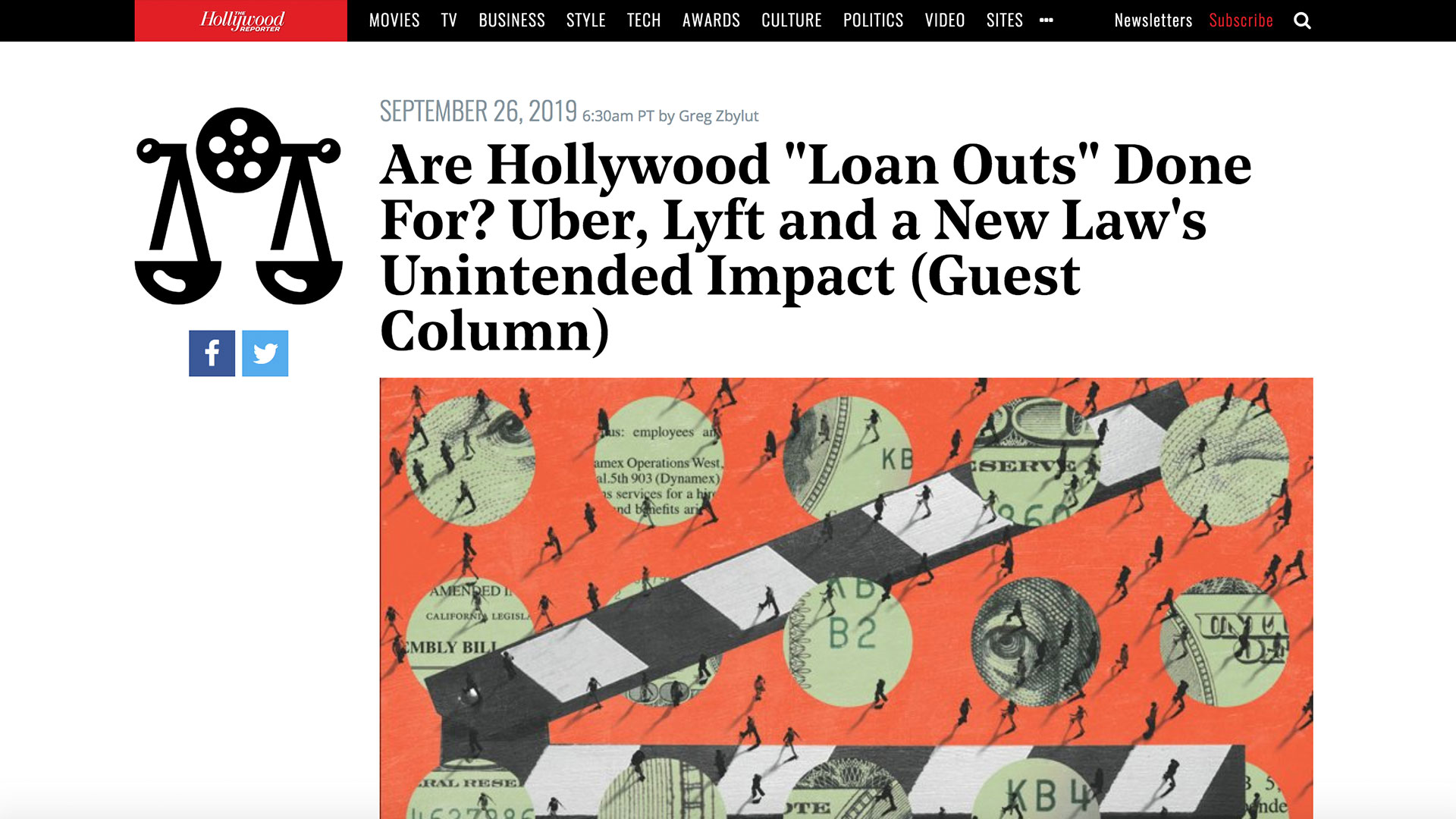 "Fairness Rocks News Are Hollywood ""Loan Outs"" Done For? Uber, Lyft and a New Law's Unintended Impact (Guest Column)"