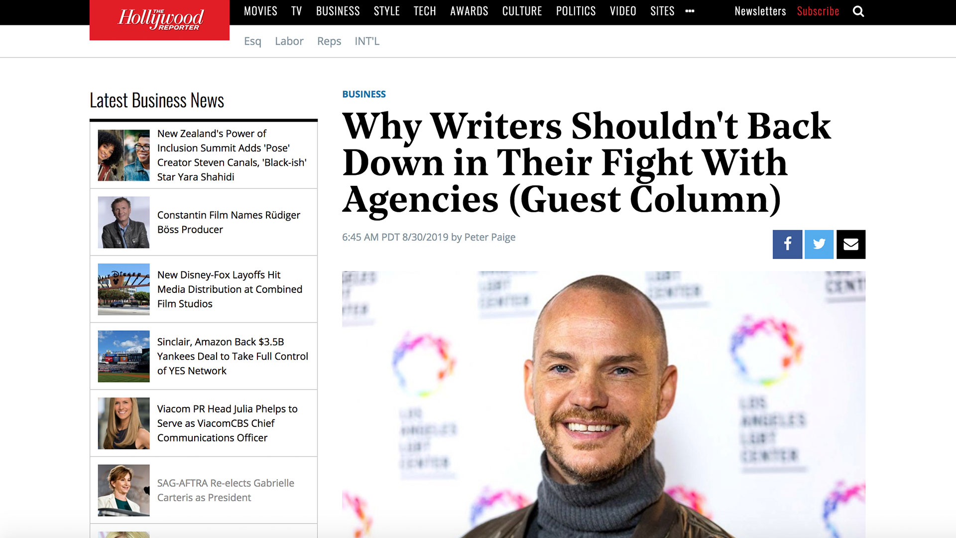 Fairness Rocks News Why Writers Shouldn't Back Down in Their Fight With Agencies (Guest Column)