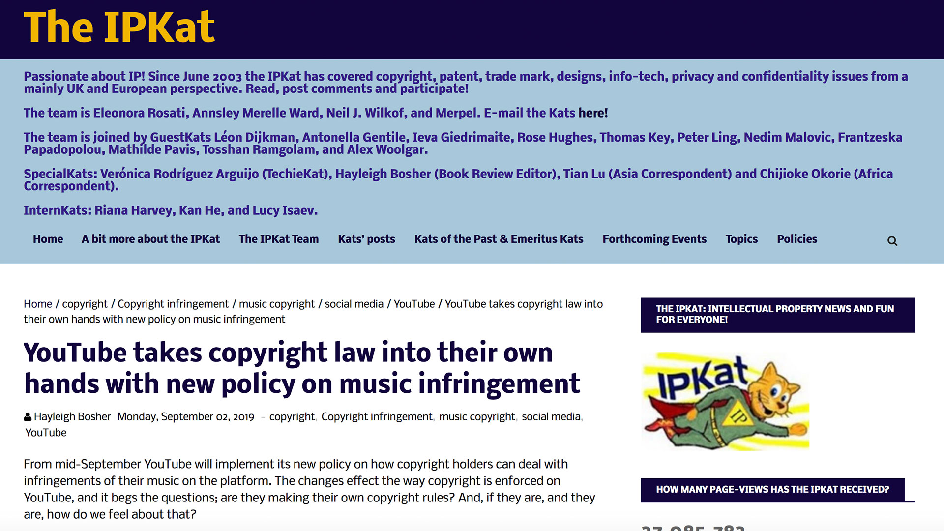 Fairness Rocks News YouTube takes copyright law into their own hands with new policy on music infringement