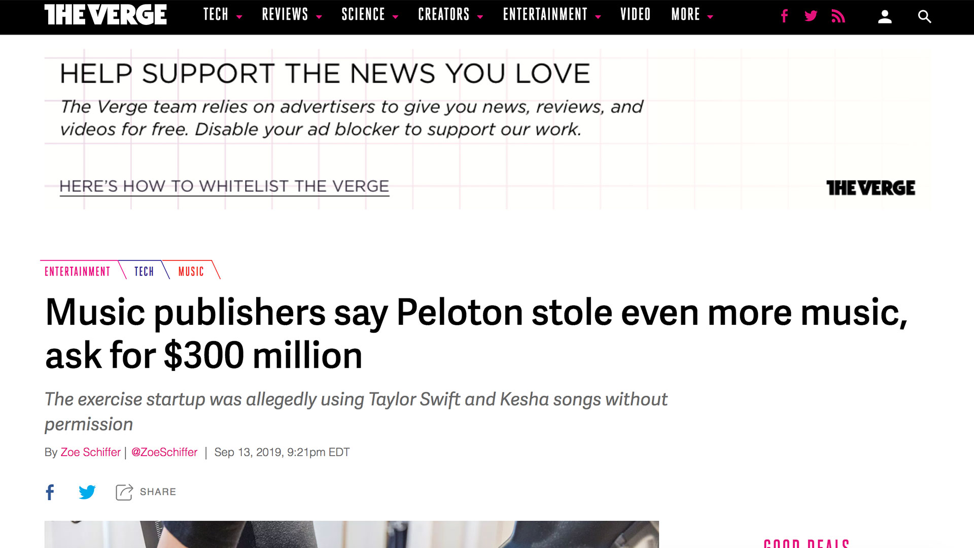 Fairness Rocks News Music publishers say Peloton stole even more music, ask for $300 million