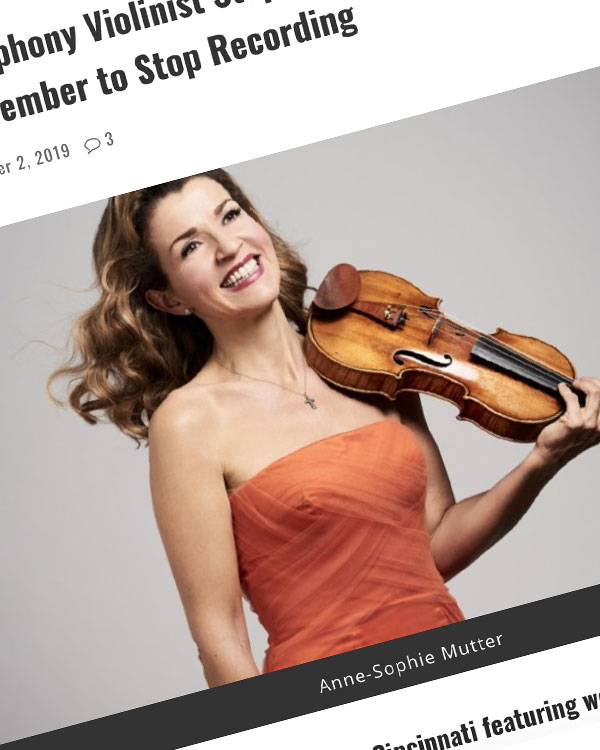 Fairness Rocks News Cincinnati Symphony Violinist Stops Her Performance to Ask an Audience Member to Stop Recording