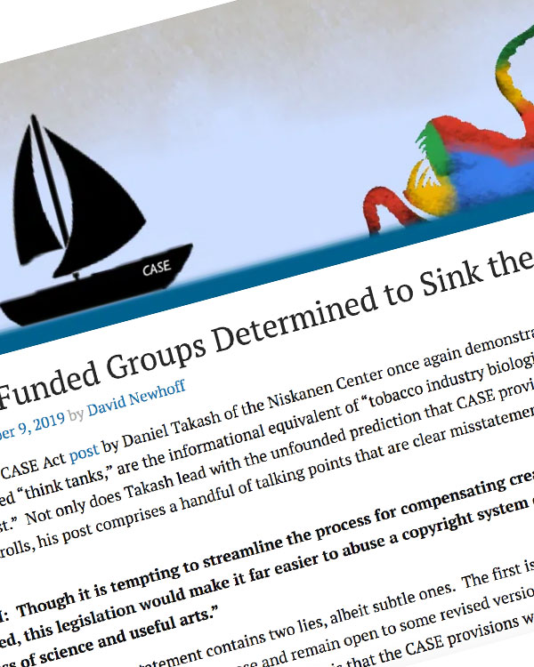 Fairness Rocks News Google-Funded Groups Determined to Sink the CASE Act