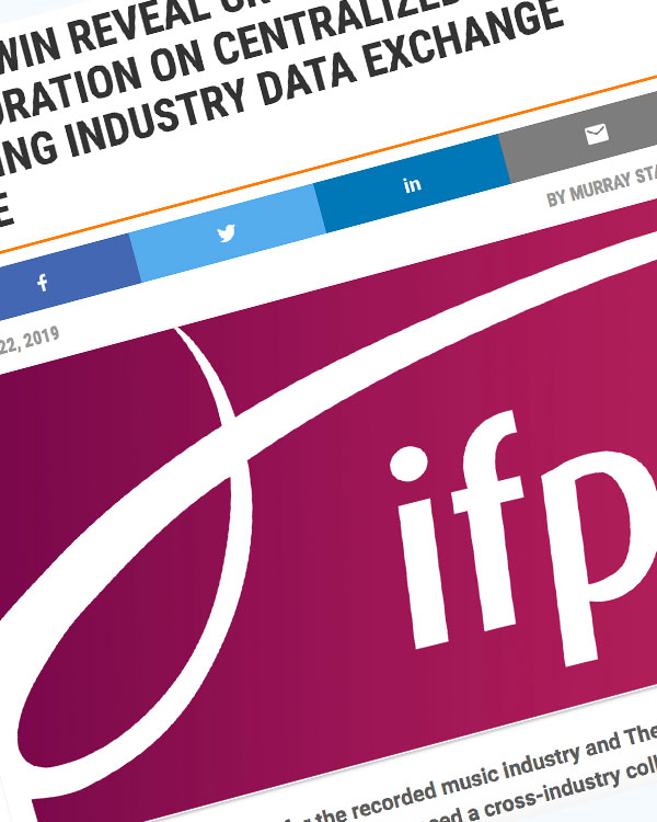 Fairness Rocks News IFPI AND WIN REVEAL CROSS-INDUSTRY COLLABORATION ON CENTRALIZED RECORDING INDUSTRY DATA EXCHANGE SERVICE
