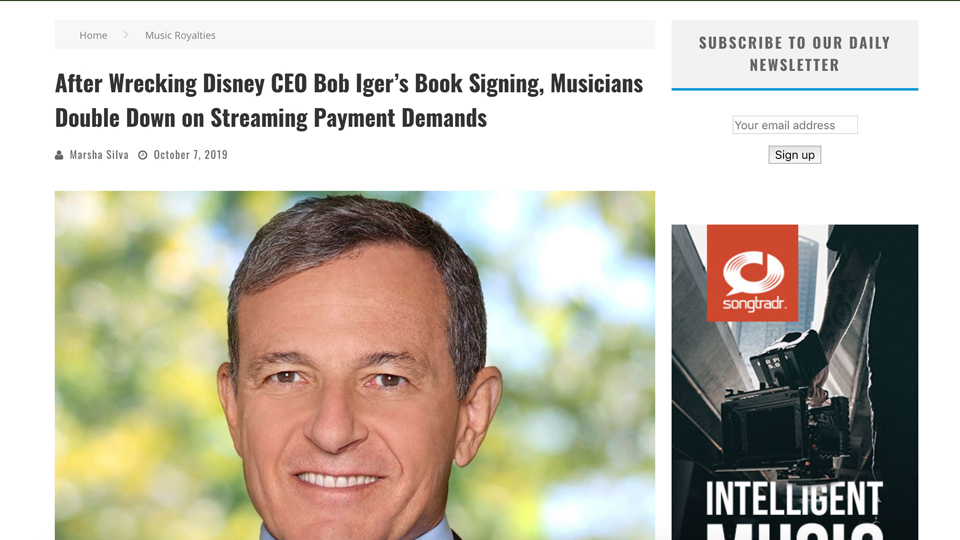 Fairness Rocks News After Wrecking Disney CEO Bob Iger's Book Signing, Musicians Double Down on Streaming Payment Demands