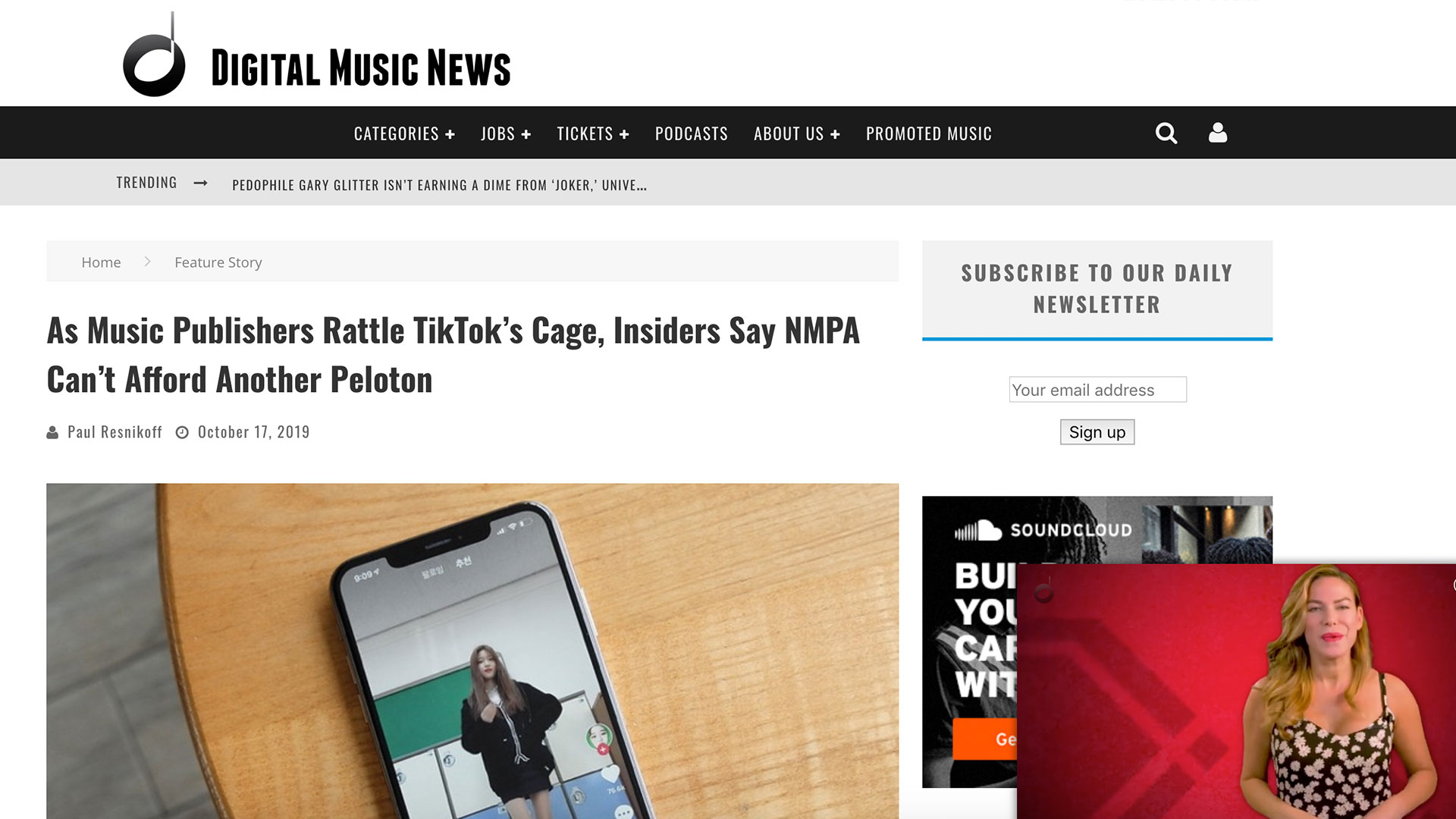 Fairness Rocks News As Music Publishers Rattle TikTok's Cage, Insiders Say NMPA Can't Afford Another Peloton