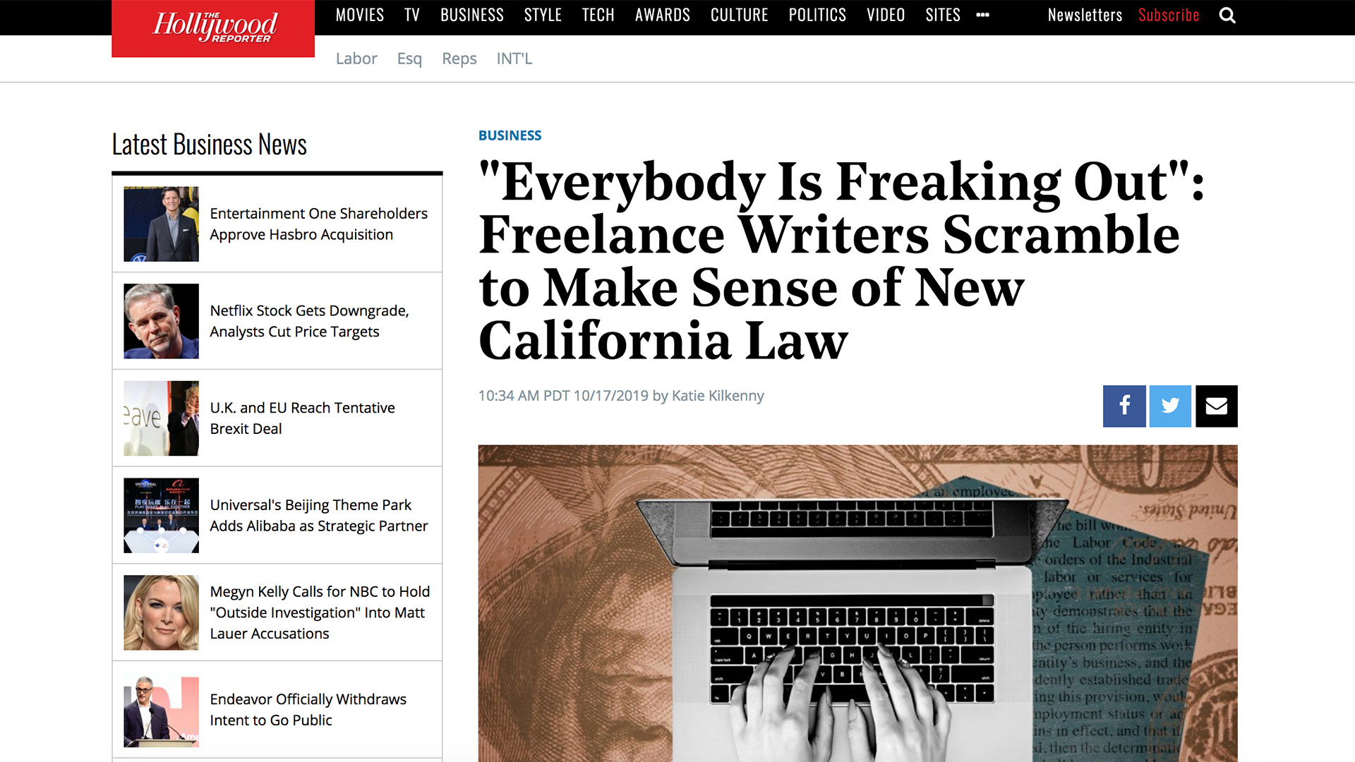 "Fairness Rocks News ""Everybody Is Freaking Out"": Freelance Writers Scramble to Make Sense of New California Law"