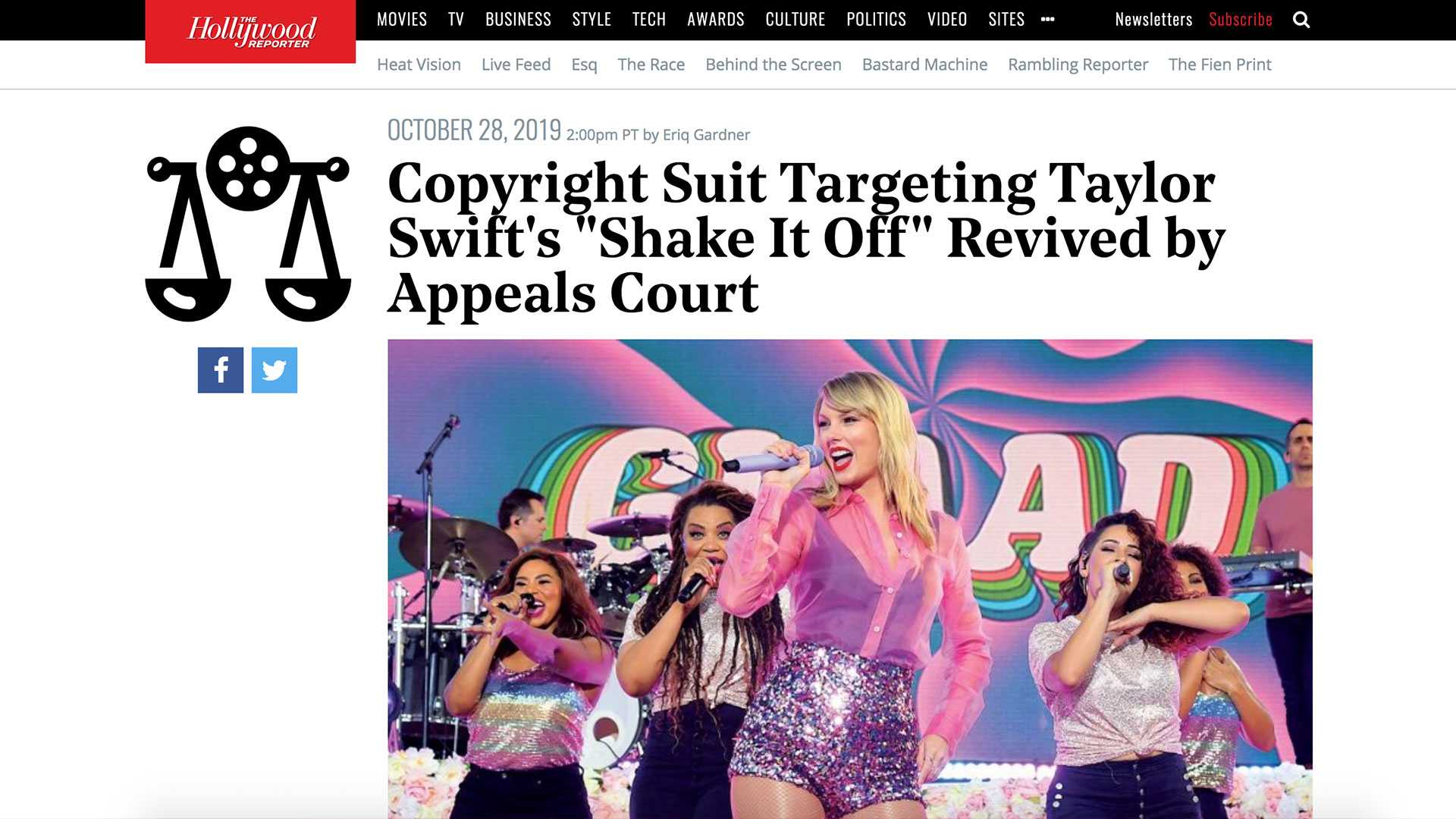 """Fairness Rocks News Copyright Suit Targeting Taylor Swift's """"Shake It Off"""" Revived by Appeals Court"""