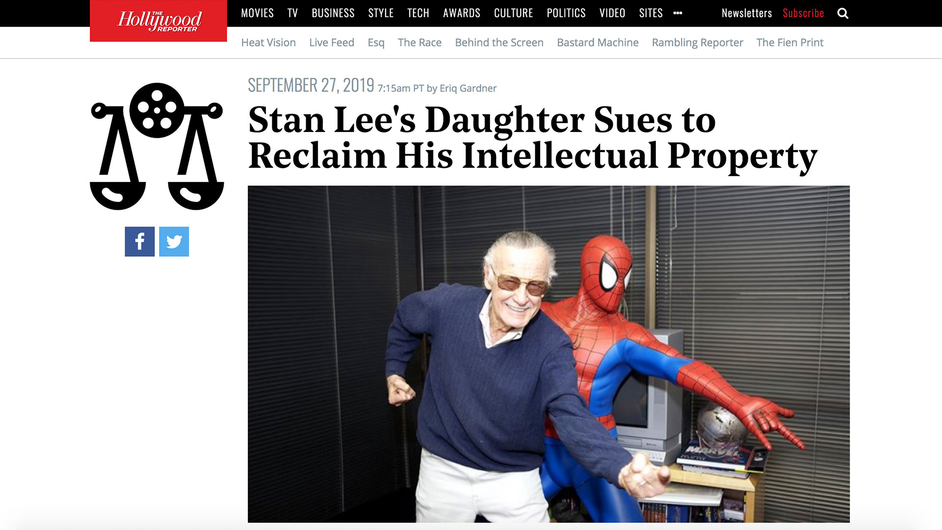 Fairness Rocks News Stan Lee's Daughter Sues to Reclaim His Intellectual Property