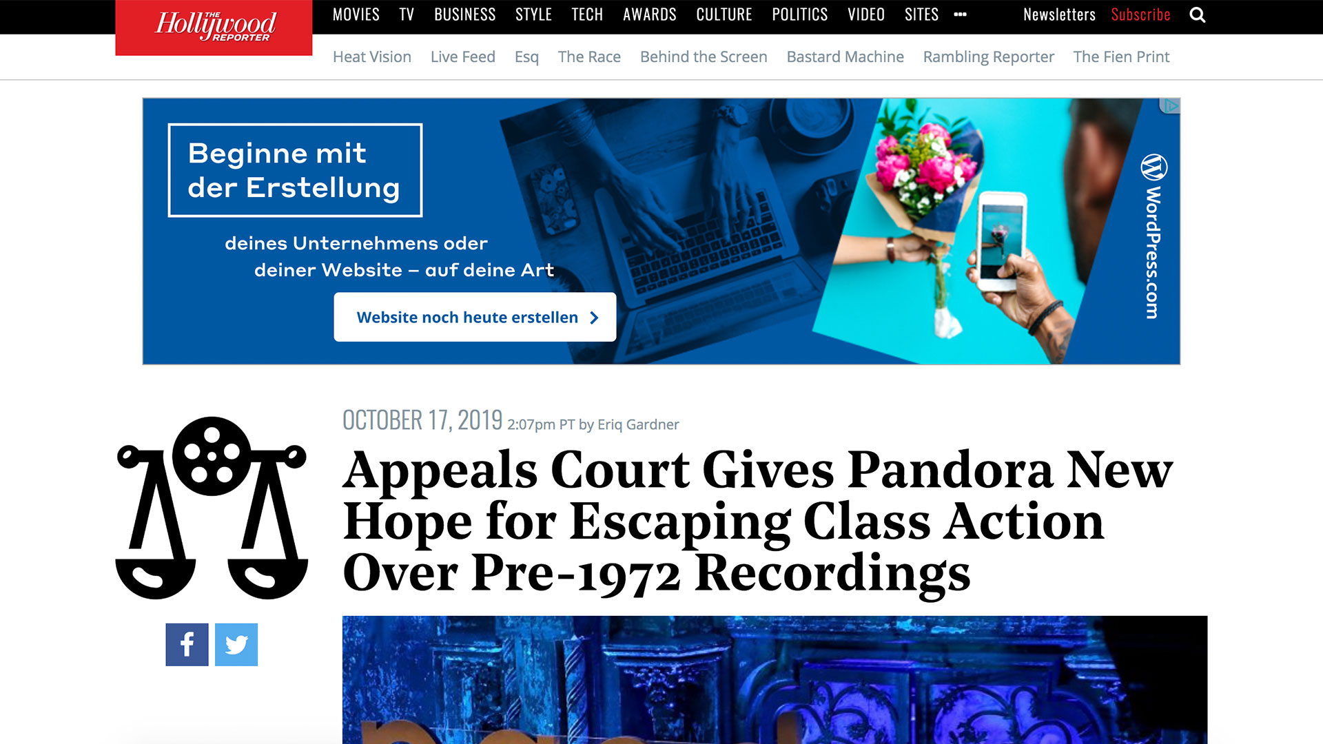 Fairness Rocks News Appeals Court Gives Pandora New Hope for Escaping Class Action Over Pre-1972 Recordings
