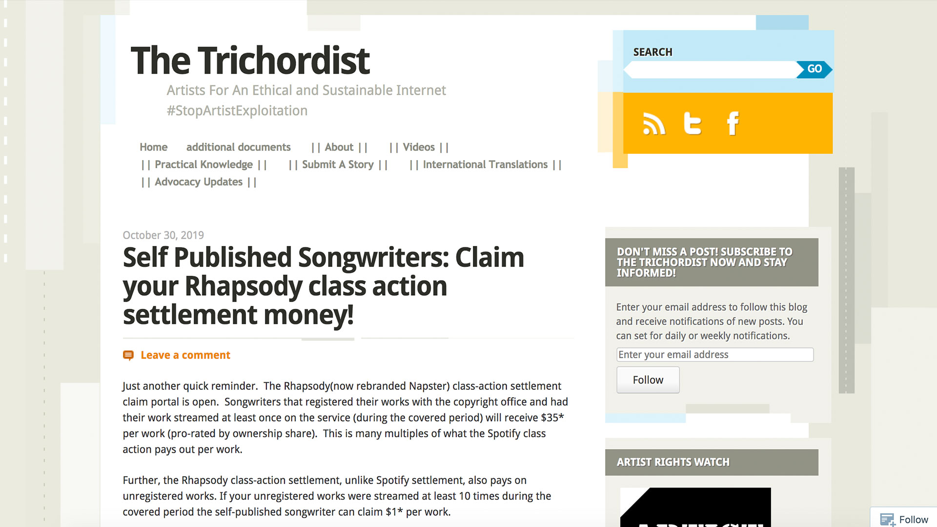 Fairness Rocks News Self Published Songwriters: Claim your Rhapsody class action settlement money!