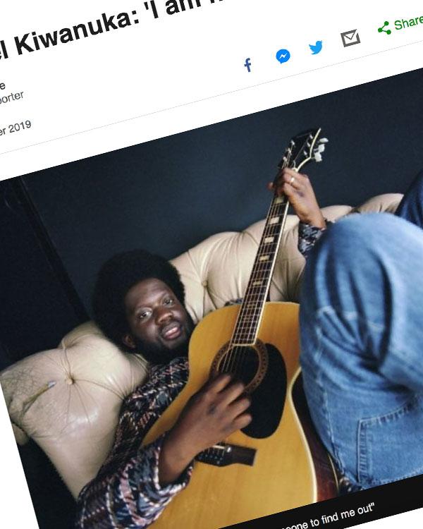 Fairness Rocks News Michael Kiwanuka: 'I am not an imposter'