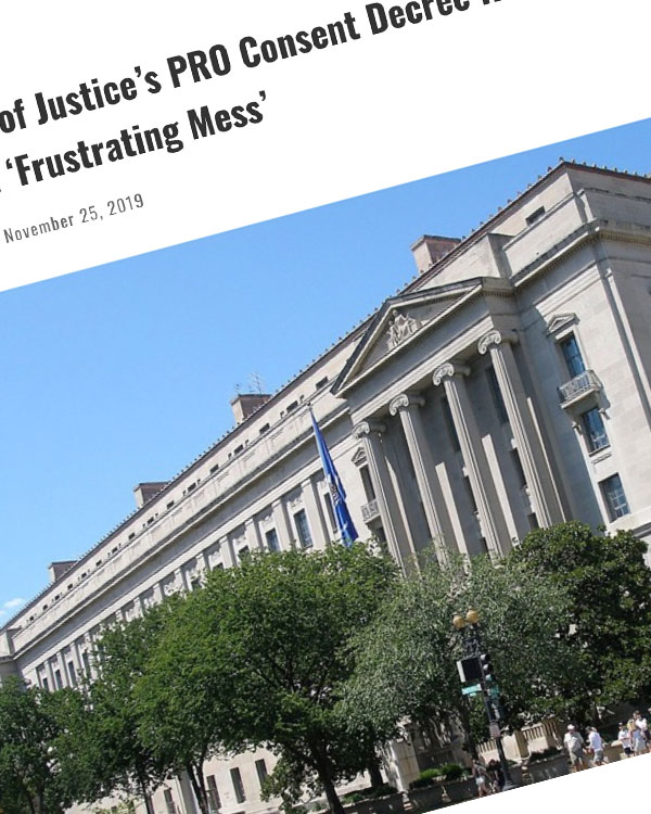 Fairness Rocks News Department of Justice's PRO Consent Decree Review Is Becoming a 'Frustrating Mess'