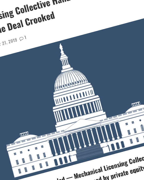 Fairness Rocks News Mechanical Licensing Collective Hands a Juicy Contract to HFA — Critics Call the Deal Crooked