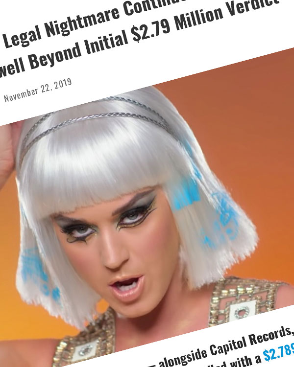 Fairness Rocks News Katy Perry's Legal Nightmare Continues — 'Dark Horse' Damages Swell Beyond Initial $2.79 Million Verdict