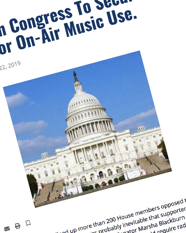 Fairness Rocks News New Effort In Congress To Secure Radio Royalties For On-Air Music Use.