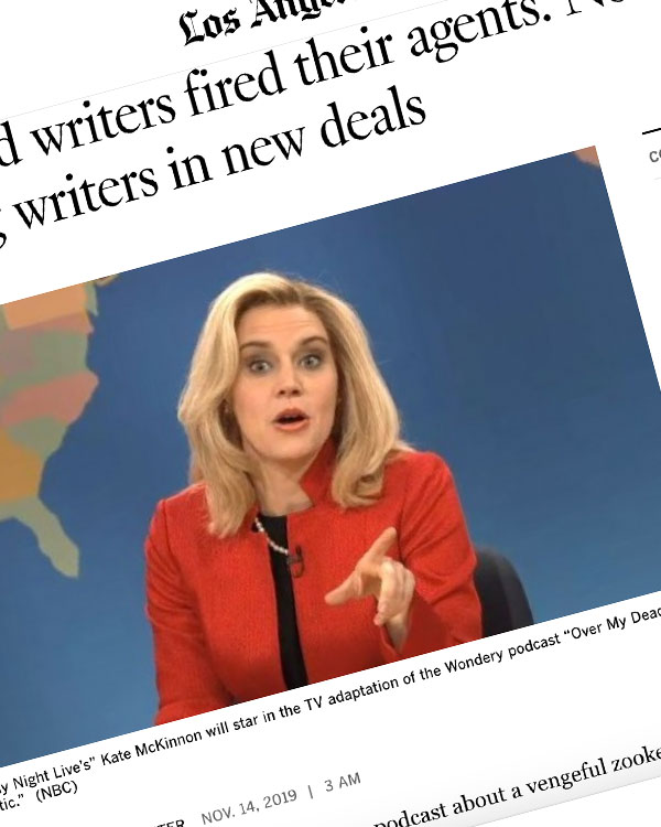 Fairness Rocks News Hollywood writers fired their agents. Now agencies are sidelining writers in new deals