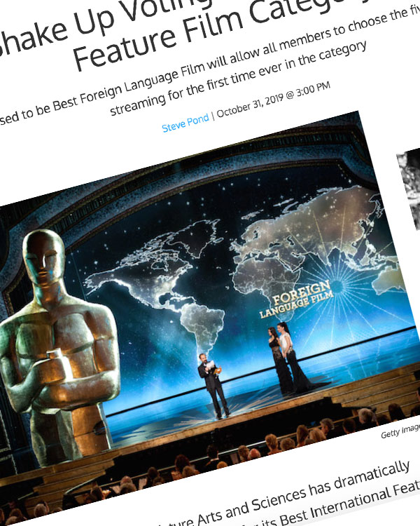 Fairness Rocks News Oscars Shake Up Voting in the Best International Feature Film Category