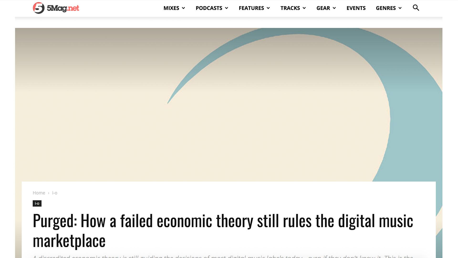 Fairness Rocks News Purged: How a failed economic theory still rules the digital music marketplace