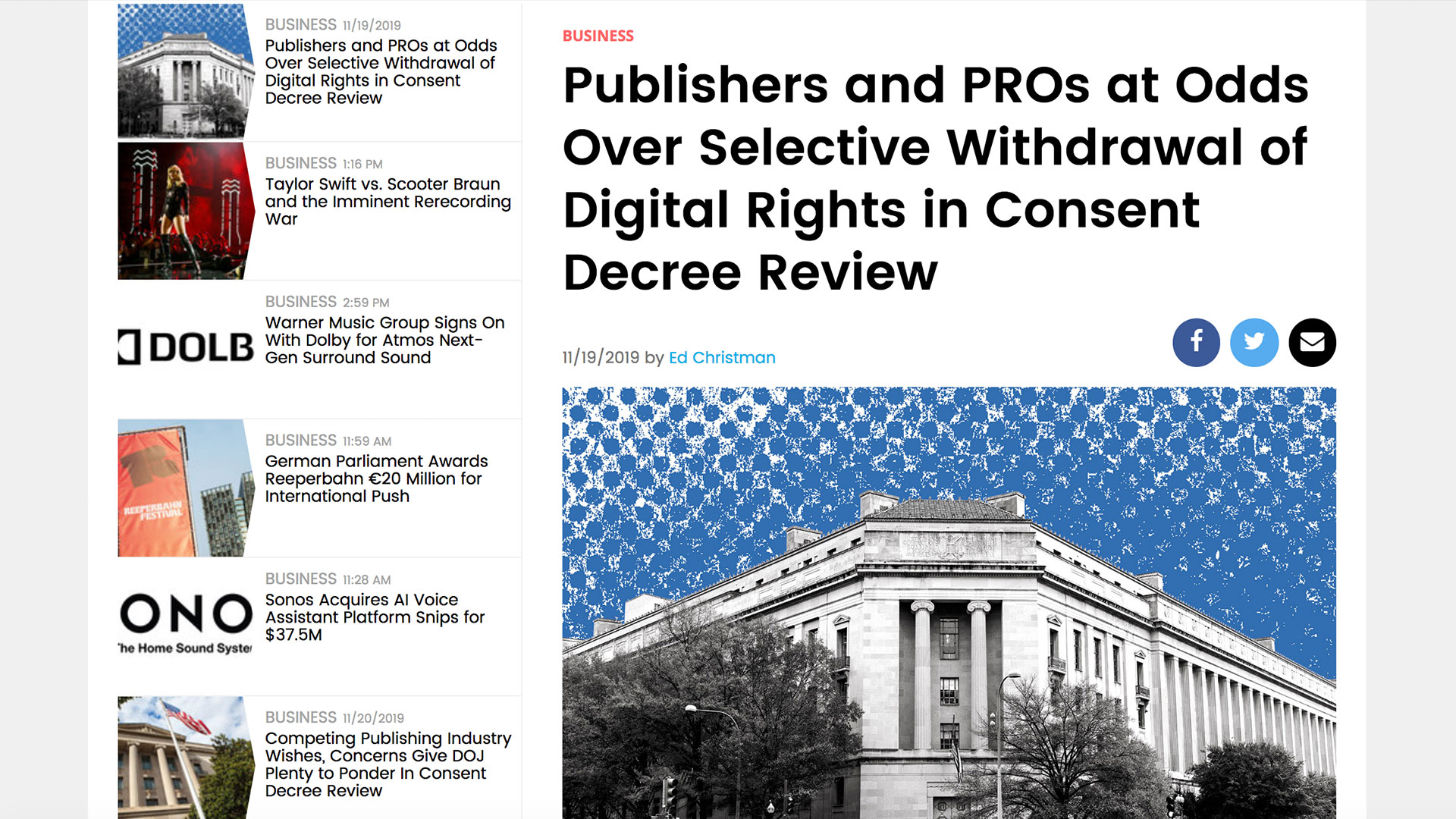 Fairness Rocks News Publishers and PROs at Odds Over Selective Withdrawal of Digital Rights in Consent Decree Review