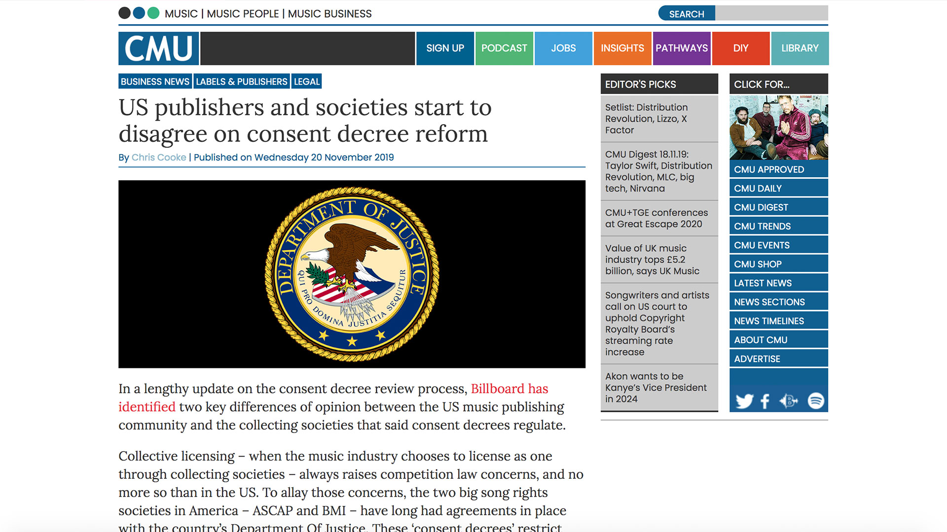 Fairness Rocks News US publishers and societies start to disagree on consent decree reform