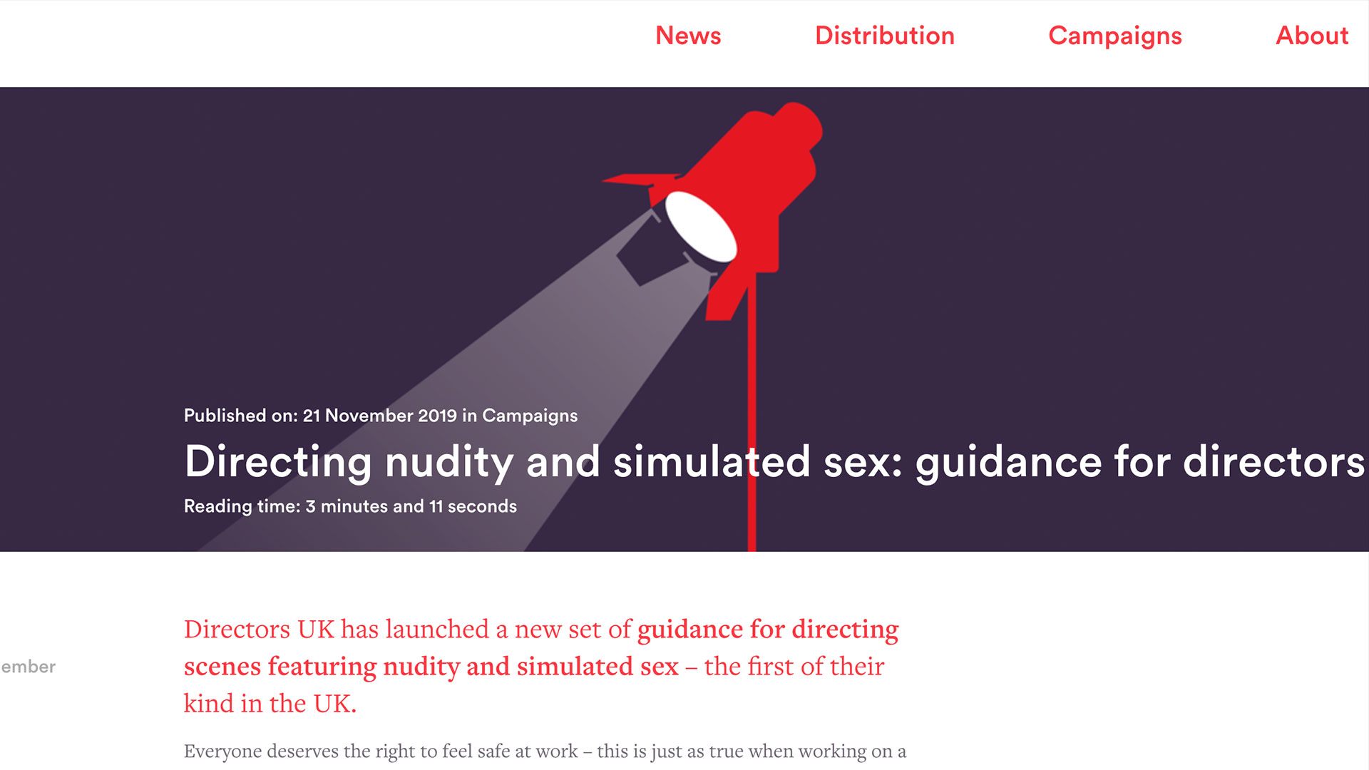 Fairness Rocks News Directing nudity and simulated sex: guidance for directors