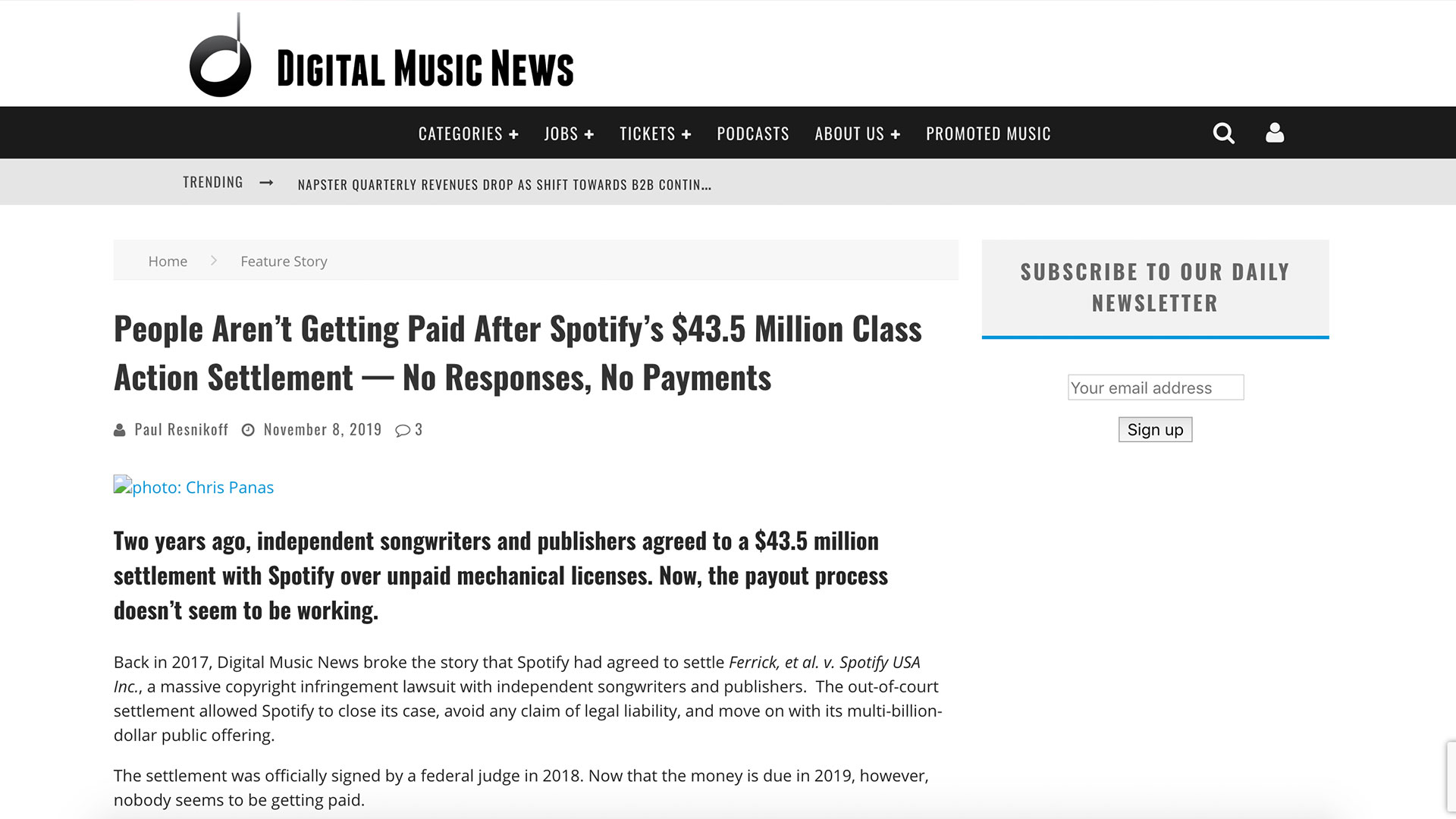 Fairness Rocks News People Aren't Getting Paid After Spotify's $43.5 Million Class Action Settlement — No Responses, No Payments