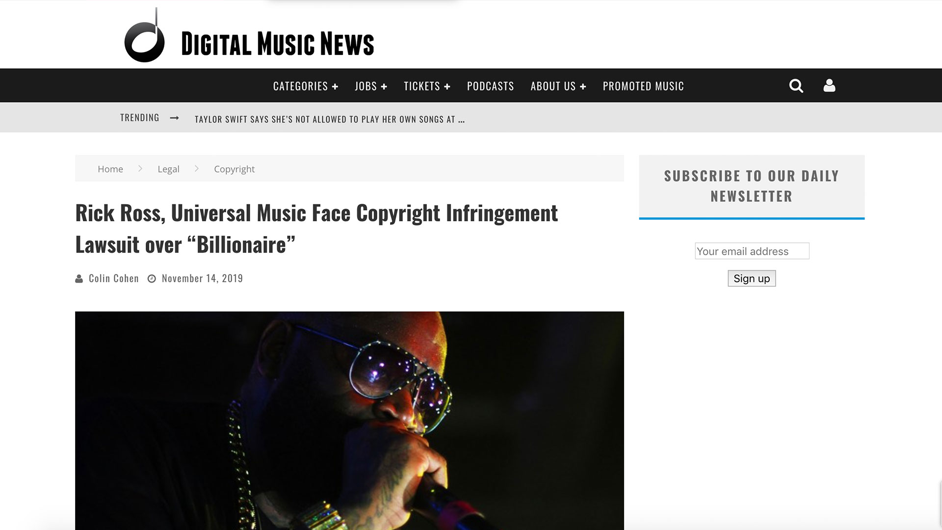 "Fairness Rocks News Rick Ross, Universal Music Face Copyright Infringement Lawsuit over ""Billionaire"""
