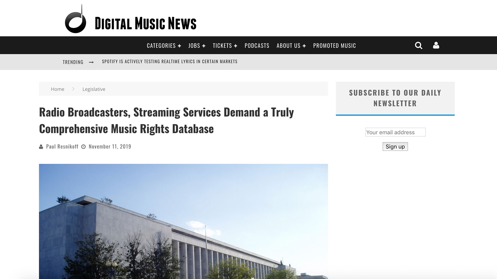Fairness Rocks News Radio Broadcasters, Streaming Services Demand a Truly Comprehensive Music Rights Database