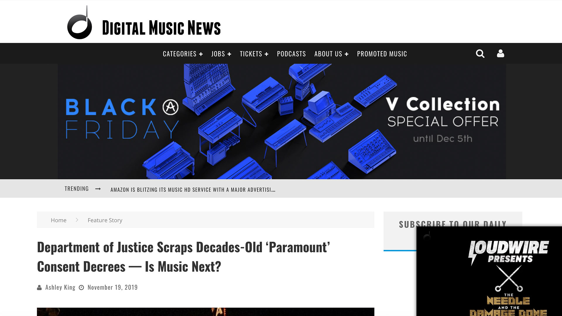 Fairness Rocks News Department of Justice Scraps Decades-Old 'Paramount' Consent Decrees — Is Music Next?
