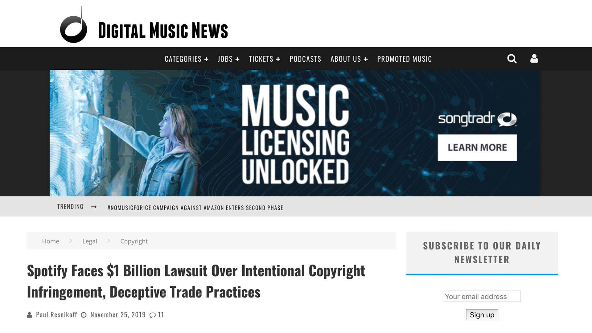 Fairness Rocks News Spotify Faces $1 Billion Lawsuit Over Intentional Copyright Infringement, Deceptive Trade Practices