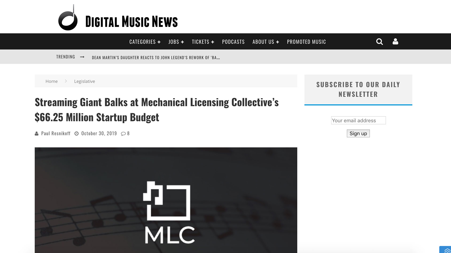 Fairness Rocks News Streaming Giant Balks at Mechanical Licensing Collective's $66.25 Million Startup Budget