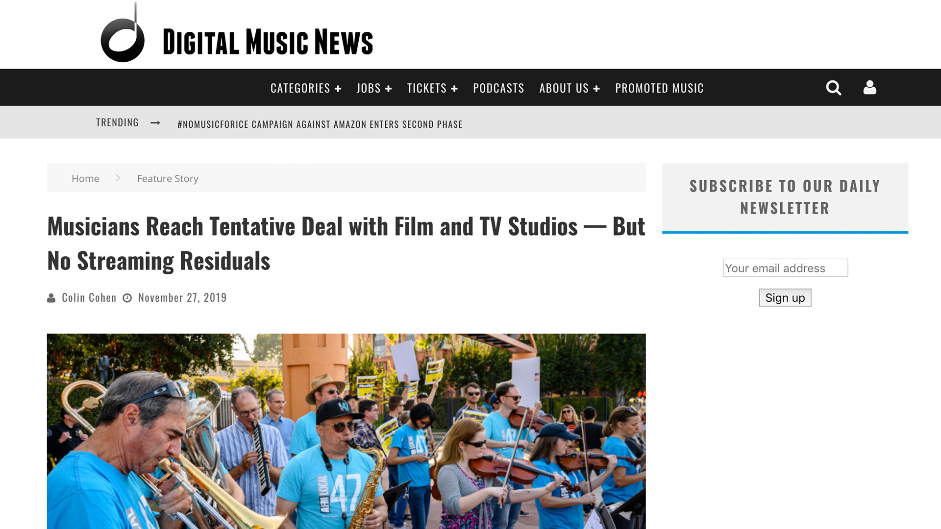 Fairness Rocks News Musicians Reach Tentative Deal with Film and TV Studios — But No Streaming Residuals
