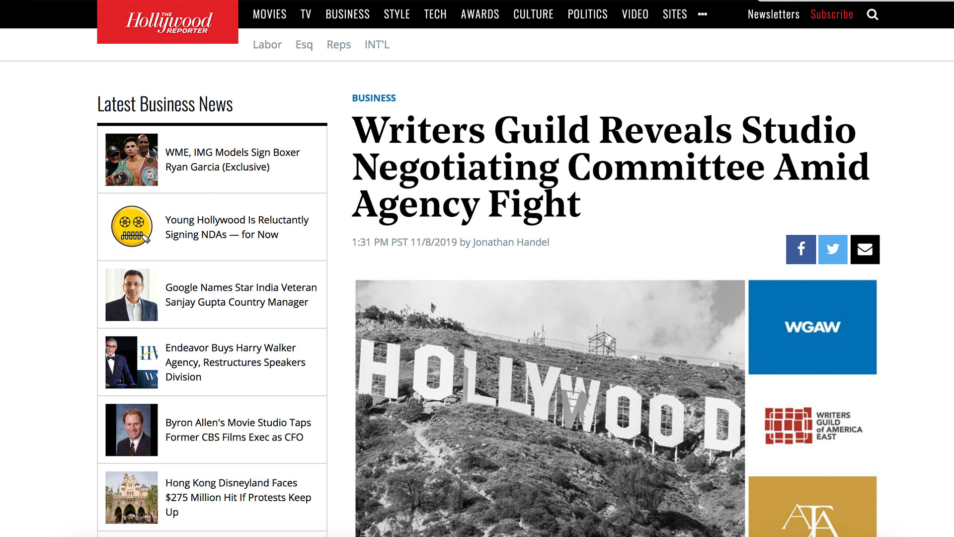 Fairness Rocks News Writers Guild Reveals Studio Negotiating Committee Amid Agency Fight