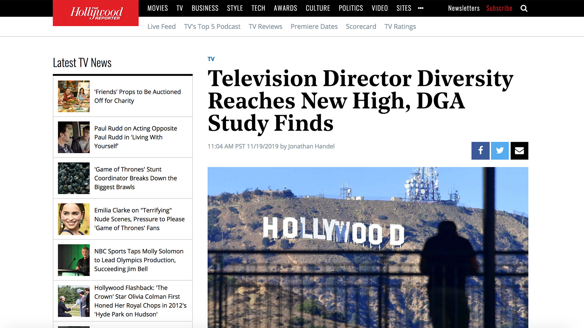 Fairness Rocks News Television Director Diversity Reaches New High, DGA Study Finds