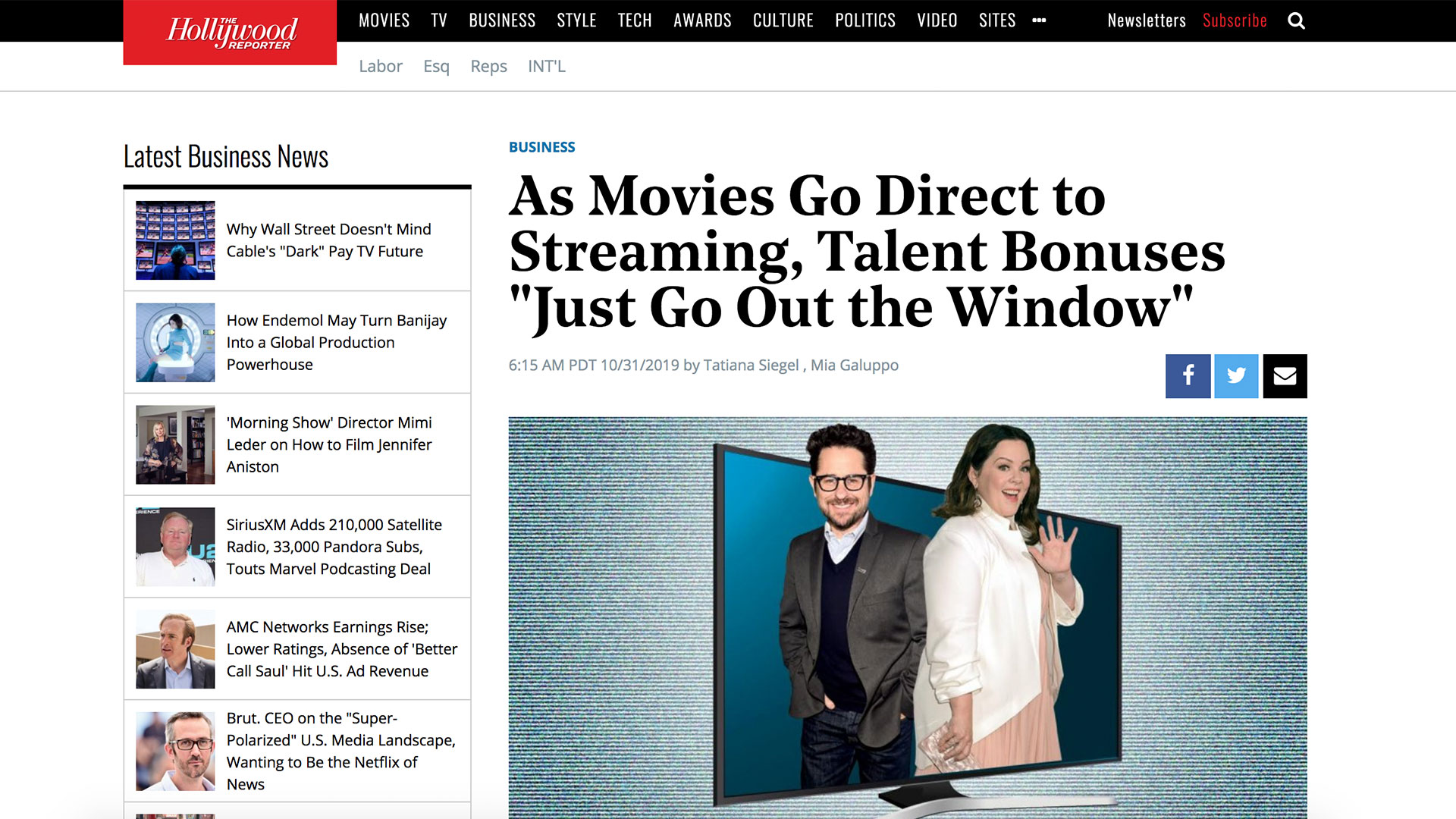 "Fairness Rocks News As Movies Go Direct to Streaming, Talent Bonuses ""Just Go Out the Window"""