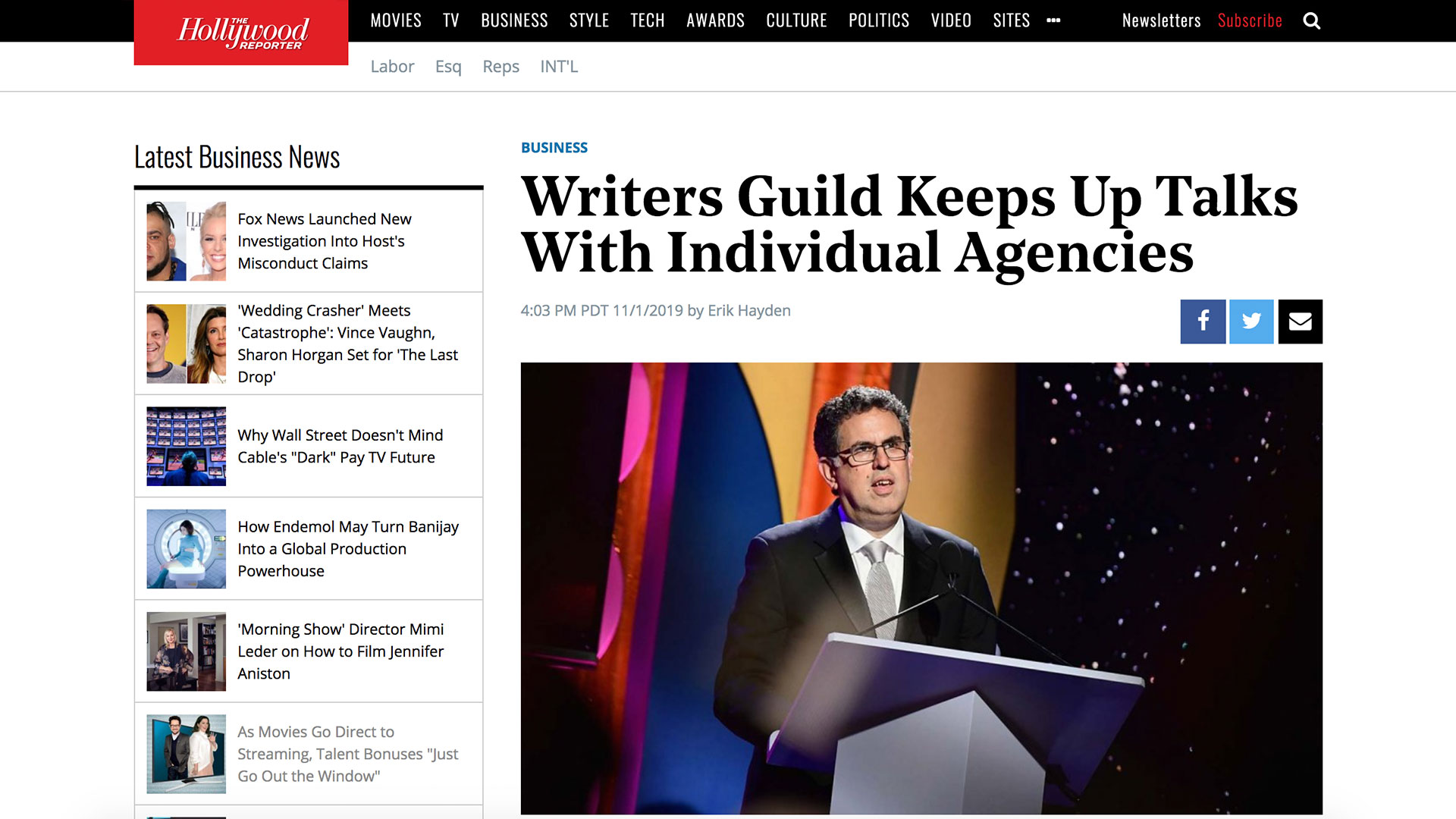 Fairness Rocks News Writers Guild Keeps Up Talks With Individual Agencies