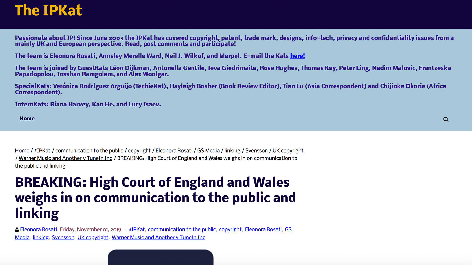 Fairness Rocks News BREAKING: High Court of England and Wales weighs in on communication to the public and linking