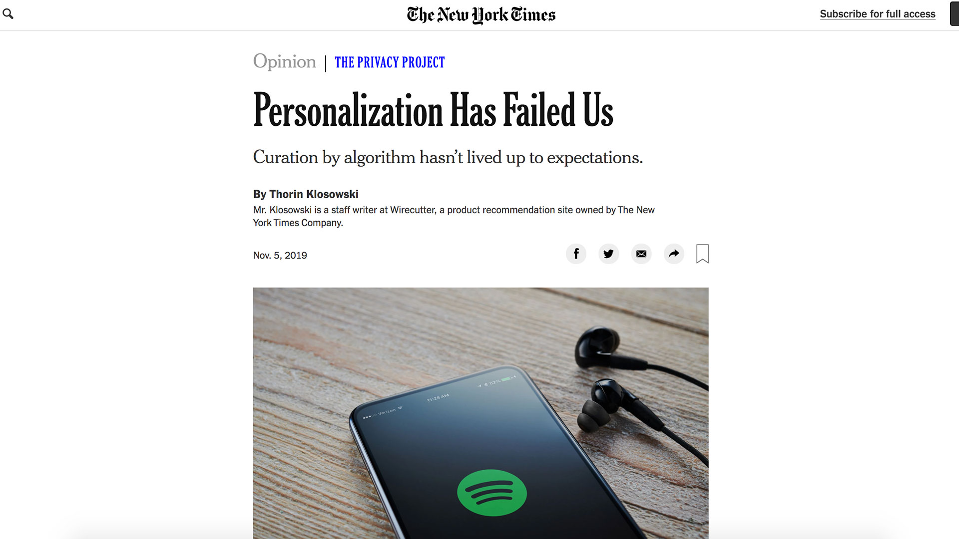 Fairness Rocks News Personalization Has Failed Us