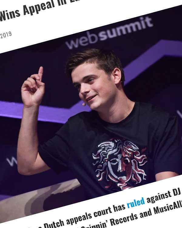 Fairness Rocks News Spinnin' Records Wins Appeal in Lawsuit with Martin Garrix