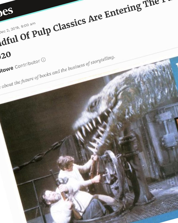 Fairness Rocks News A Handful Of Pulp Classics Are Entering The Public Domain In 2020