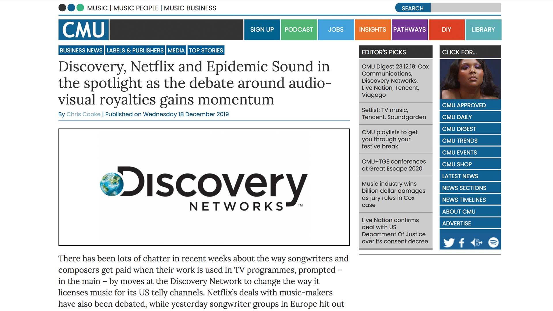 Fairness Rocks News Discovery, Netflix and Epidemic Sound in the spotlight as the debate around audio-visual royalties gains momentum