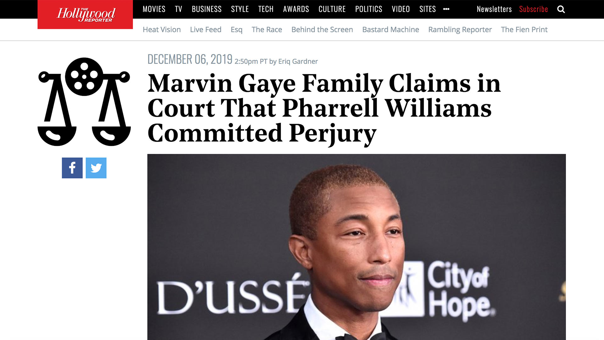 Fairness Rocks News Marvin Gaye Family Claims in Court That Pharrell Williams Committed Perjury