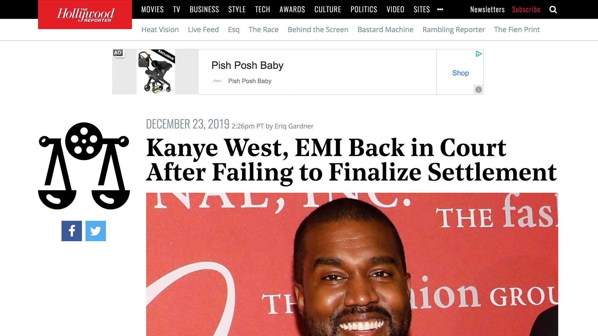 Fairness Rocks News Kanye West, EMI Back in Court After Failing to Finalize Settlement
