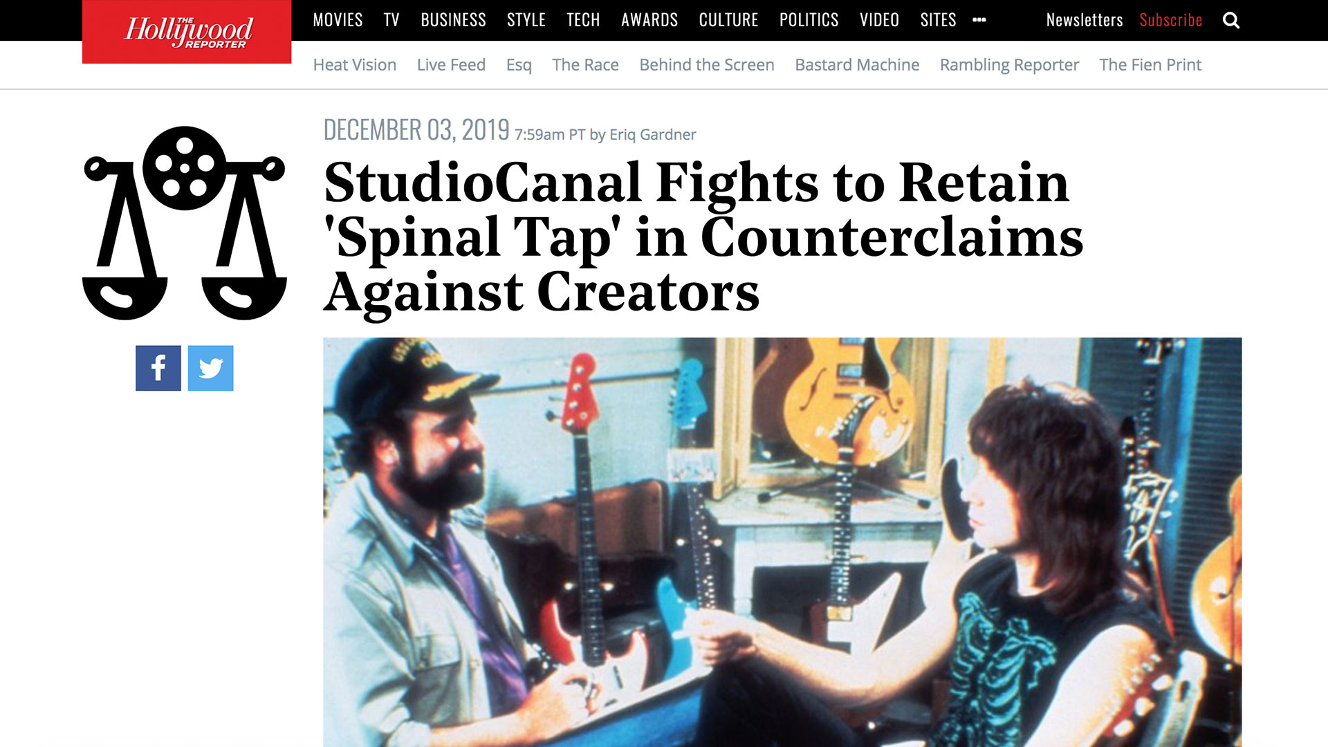 Fairness Rocks News StudioCanal Fights to Retain 'Spinal Tap' in Counterclaims Against Creators