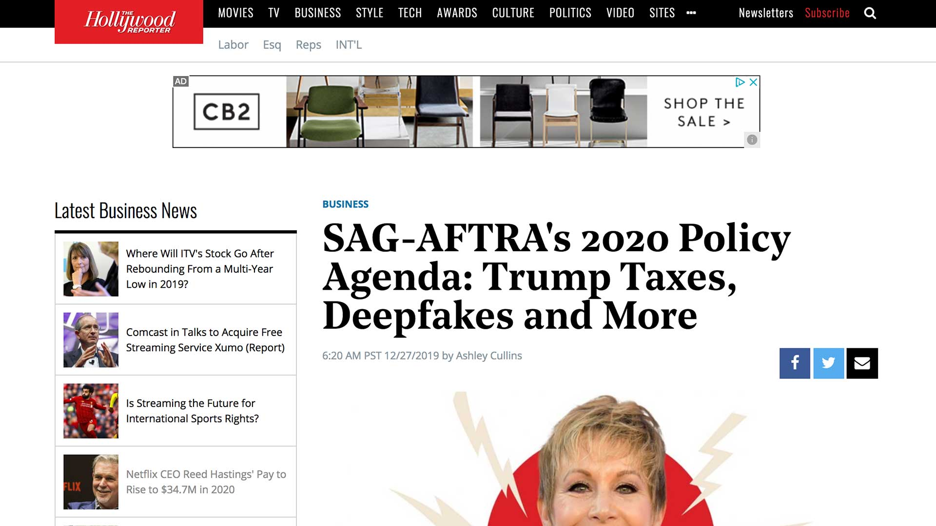 Fairness Rocks News SAG-AFTRA's 2020 Policy Agenda: Trump Taxes, Deepfakes and More