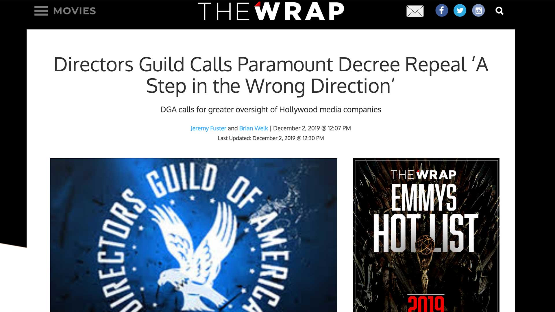 Fairness Rocks News Directors Guild Calls Paramount Decree Repeal 'A Step in the Wrong Direction'