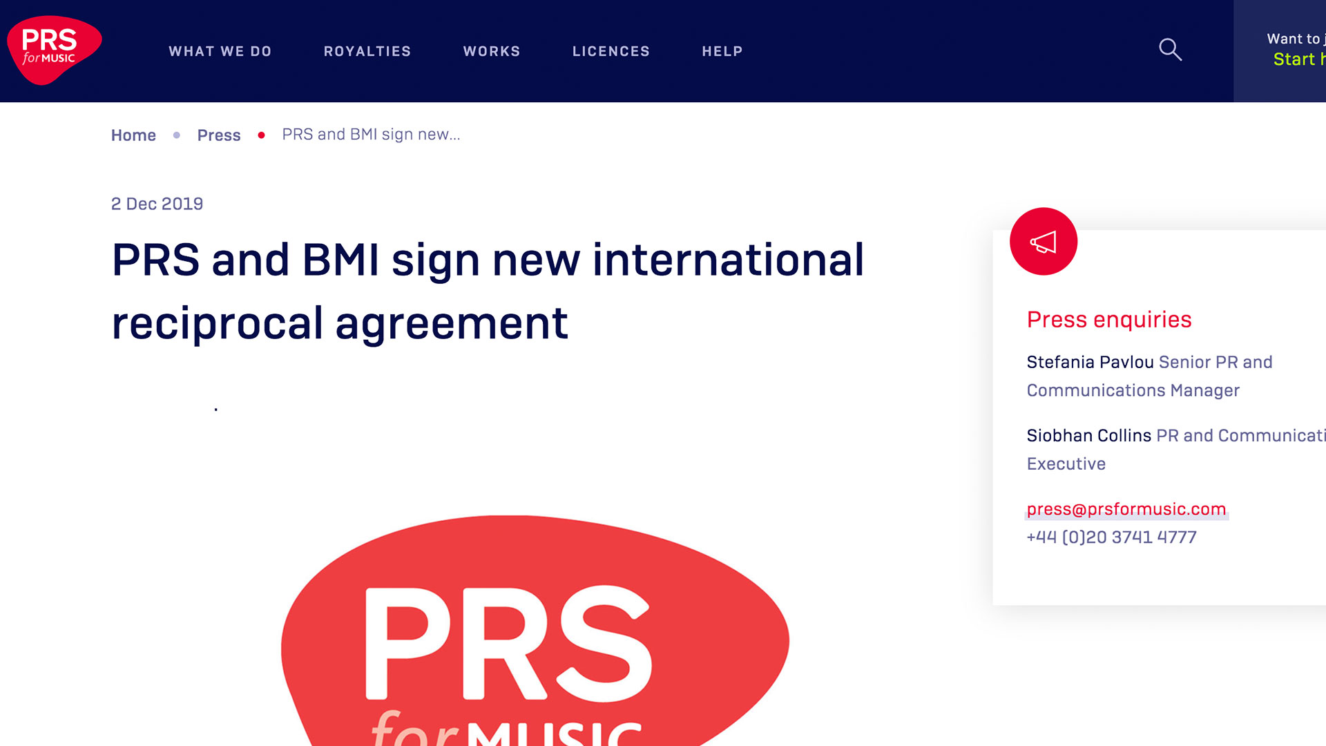 Fairness Rocks News PRS and BMI sign new international reciprocal agreement